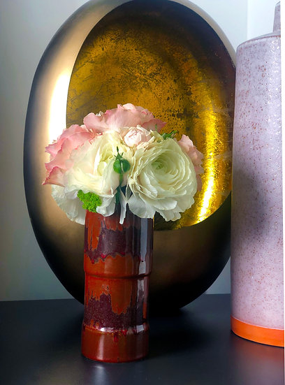 "Vase ""Ox Blood"" Small Ceramic"