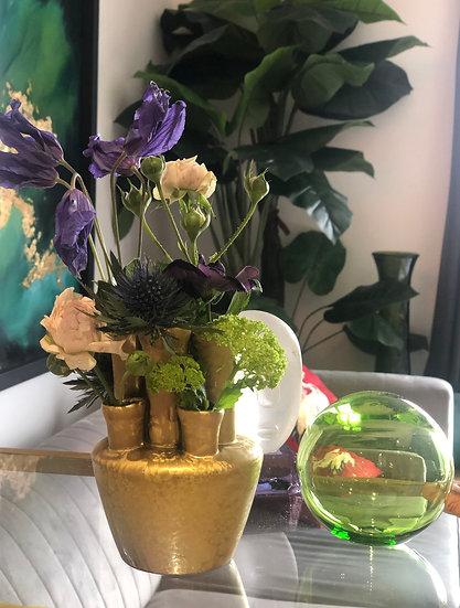 """Vase """"Golden Heart"""" Ceramic"""