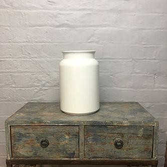 Lausanne White Milk Jug Vase.JPG