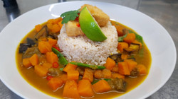 Butternut, aubergine & Tofu 'Katsu' curry