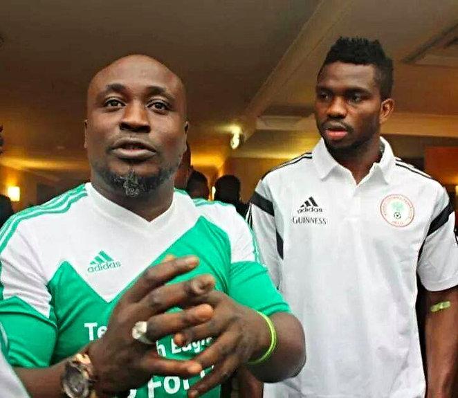 David Doherty and ex team mate and Premiership and Nigerian Football Legend Joseph Yobo