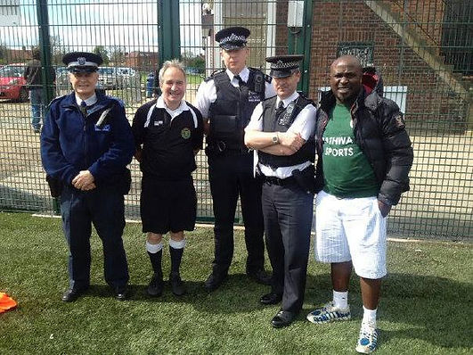 London Met Police are big supporters of the community and Pathway Sports they attend many of our football events in London