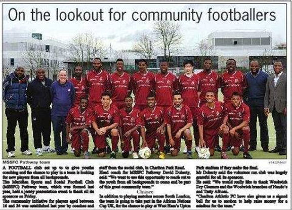 The Mercury includes Pathway Sports in their Newspaper to speak about the work we do in Local communities in London on and off the football pitch
