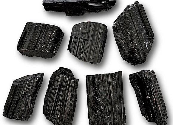 Black Tourmaline Rough Logs