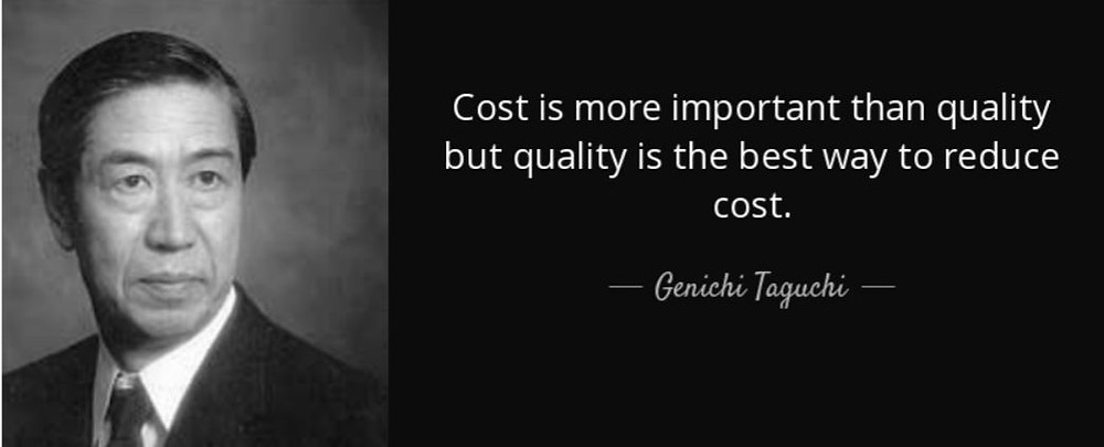 Quality is the best way to reduce COST