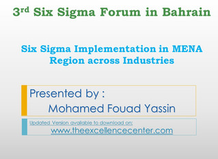 Six Sigma Implementation in MENA Region