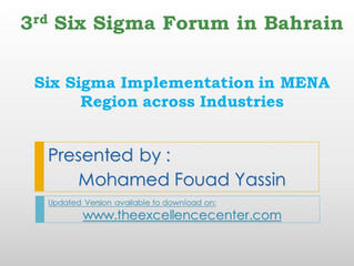 Six Sigma Implementation in MENA Region