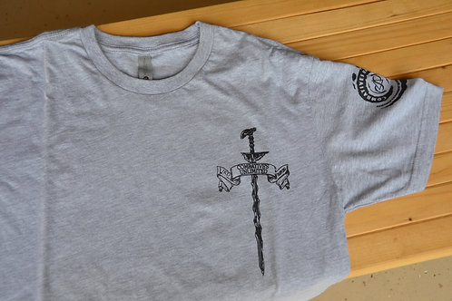 Combatives Unlimited - Dagger T-shirt (GRAY)