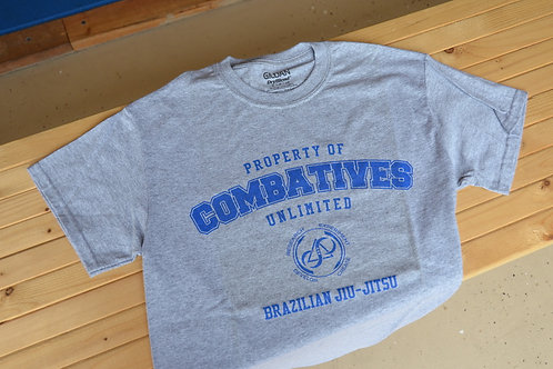 Combatives Unlimited - BJJ T-shirt (GRAY)