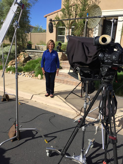 Sharon Lowe during production.