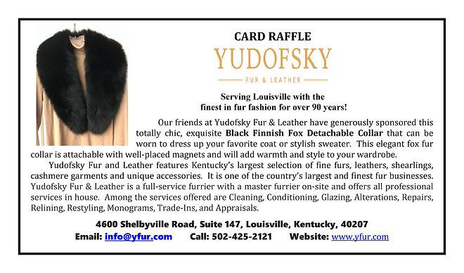 2020 Fundraiser - Card Raffle - Yudofsky