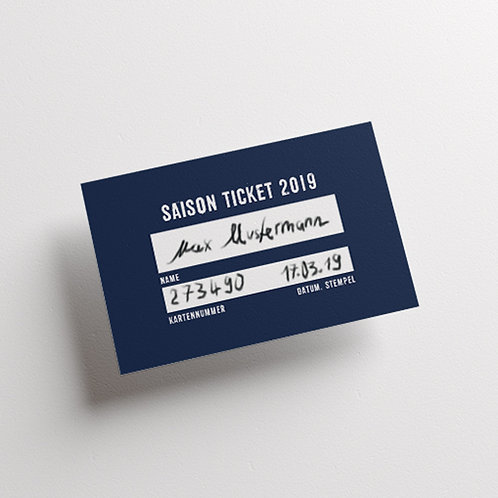 Saison Ticket 2019