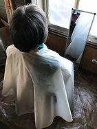 散髪の様子