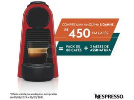 Cafeteira Espresso Nespresso Essenza Mini - Vermelha com 14 Cápsulas