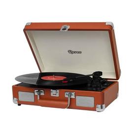 Vitrola Toca Discos Raveo Sonetto Chrome Caramelo Usb Bluetooth