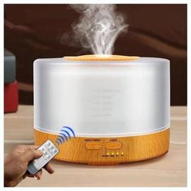 Umidificador Aromatizador, Controle Remoto, Luminaria Led 7 Cores, Aromaterapia - Miramart