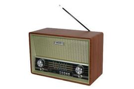 Rádio Retro Am Fm Sw Bluetoooth Recarregavel Usb Mp3 2002 - Elite - Bivolt