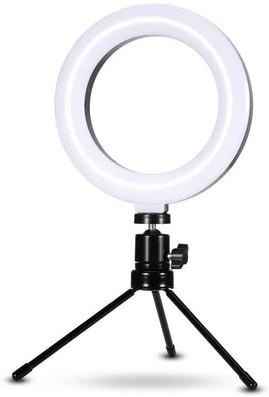 Luz e Iluminador Ring Light 6 Polegadas 36 Led / Usb - Led Misto Mesa