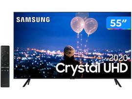 "TV Samsung 55"" Crystal UHD 65TU8000 4K, Wi-fi, Bluetooth 4.2 Borda Infinita, Alexa, Controle Único"