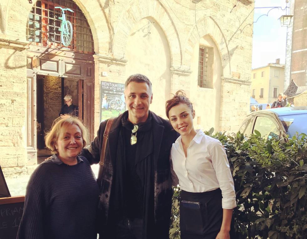 Raoul Bova con Nadia e Debora