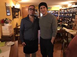 Giacomo con Vinicio Marchioni