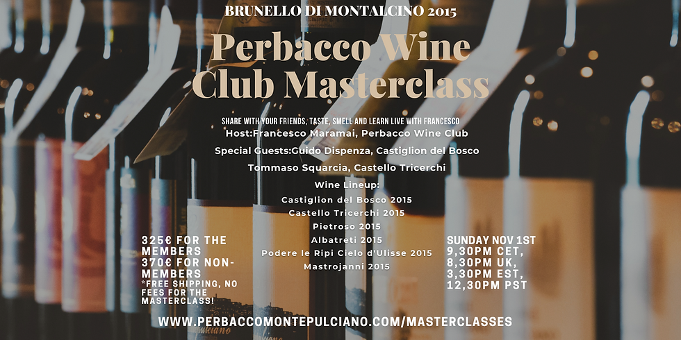 Perbacco Wine Club 'Brunello di Montalcino' Online Masterclass