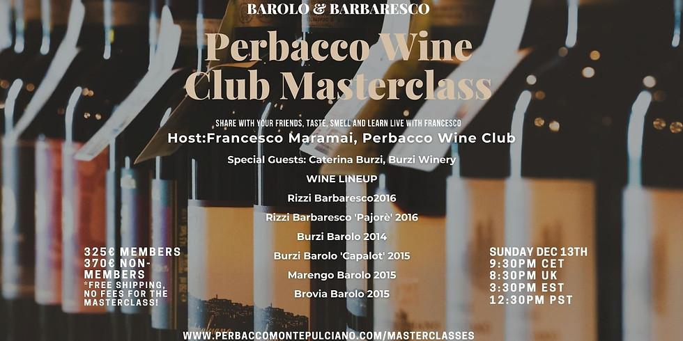 Perbacco Wine Club 'Barolo&Barbaresco' Online Masterclass