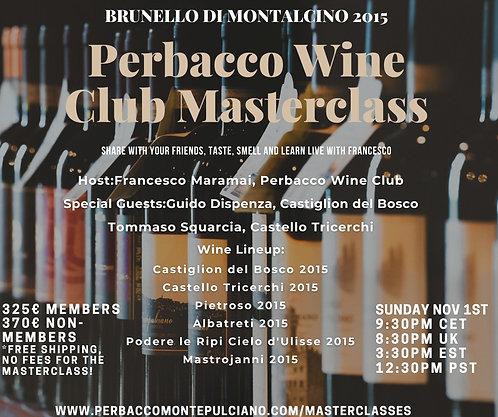 Brunello di Montalcino' Online Masterclass Nov 1st, 6bts