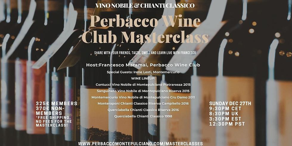 Perbacco Wine Club 'Vino Nobile & Chianti Classico' Online Masterclass