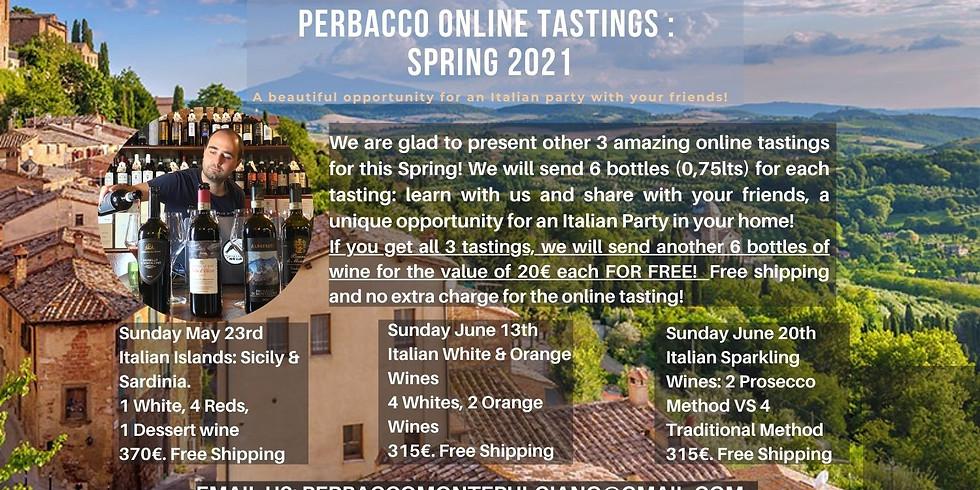 Sunday May 23rd / Perbacco Online Tasting / Italian Islands: Sicily & Sardinia