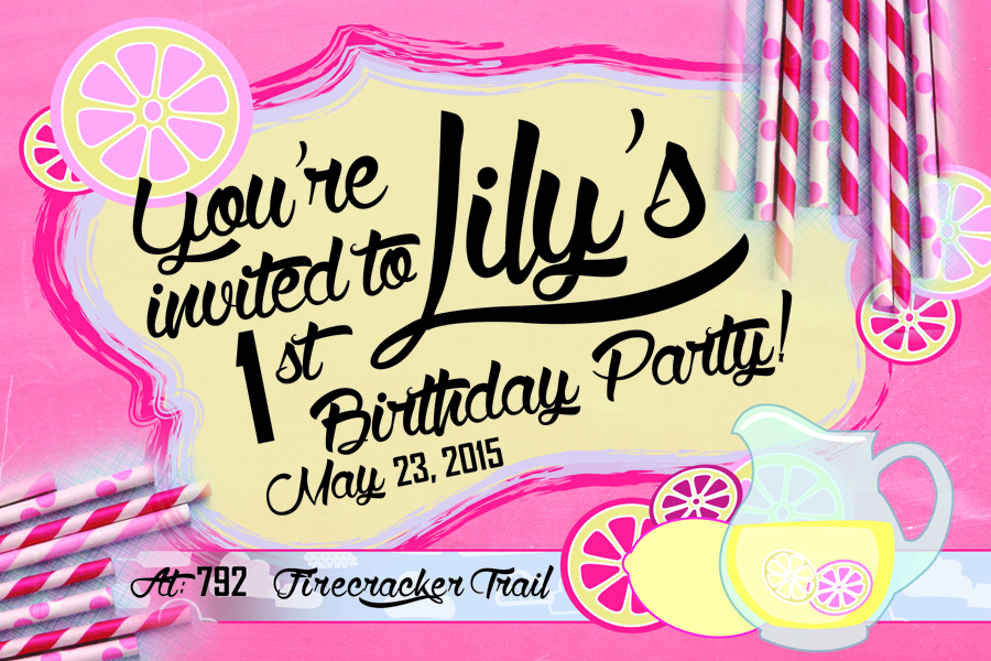 Child's party invitations