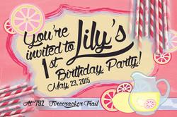 Child's party invitations