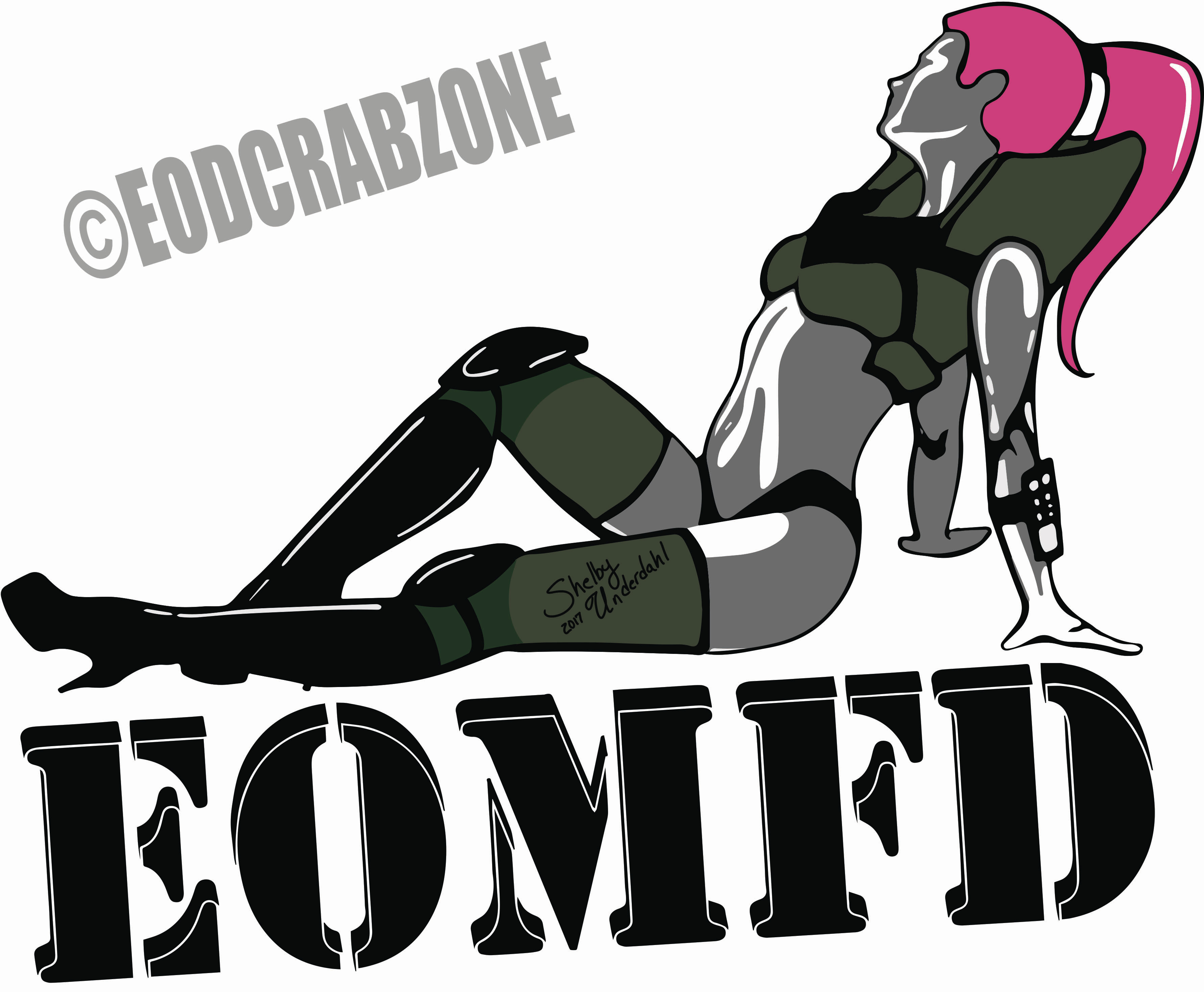 Sexy EOD chick decal