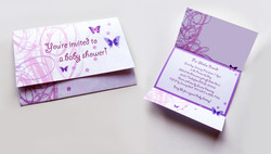 Butterfly themed invitations