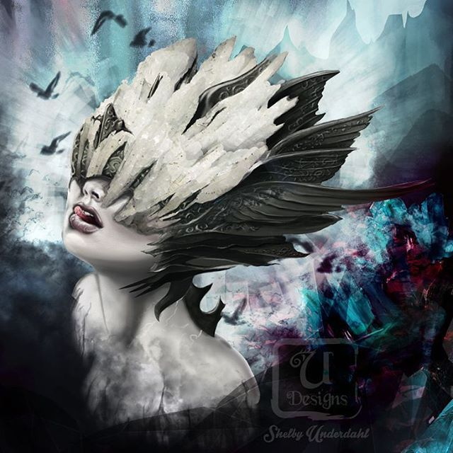 Crystal Valkyrie, digital painting