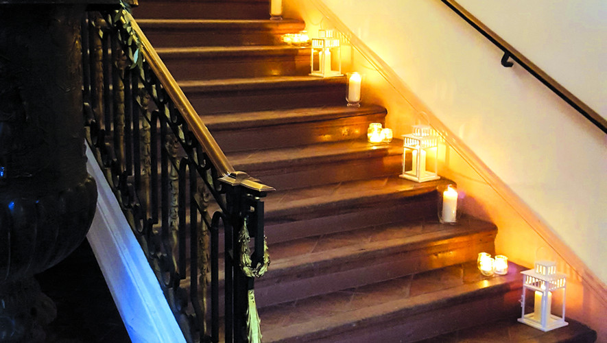 L'escalier vers la Mezzanine