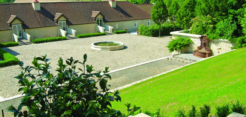La Cour Francini vue du Parc