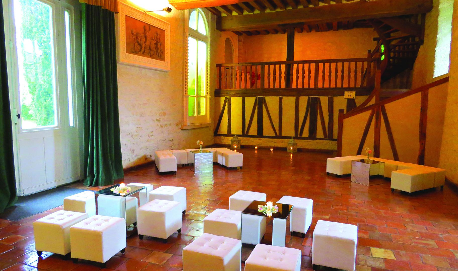 Salon Lounge dans l'Orangerie