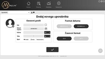 MyLink aplikacija za osebni računalnik