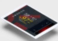 Foto do peril da Fama Telecom no instagram em uma tela de um iPad