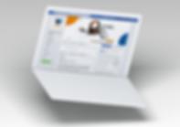 Foto do perfil da RR Cell no facebook em uma tela de notebook