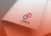 Logomarca do Dalava Bank and Skills impressa em uma folha curvada