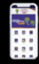 Celular com o aplicativo Paralimpíadas Escolares aberto na tela inicial.