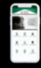 Celular com o aplicativo Edifício Rio Branco aberto na tela inicial.
