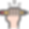 Mão segurando um lápis retratando a criação de logomarcas