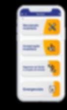 Celular com o aplicativo Severino aberto na tela inicial.