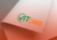 Logomarca do Vit Cred Promotora impressa em uma folha curvada