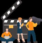 Equipe de produção de filmes