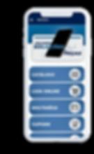 Celular com o aplicativo Distech aberto na tela inicial.