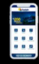 Celular com o aplicativo Contals Contabilidade aberto na tela inicial.